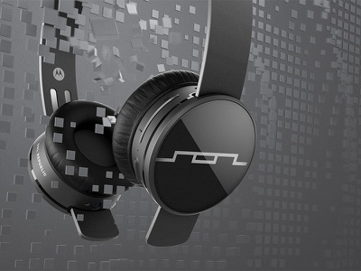 SOL Republic — Tracks Air 3d cinema 4d cg retouching packaging design pattern sol republic headphones