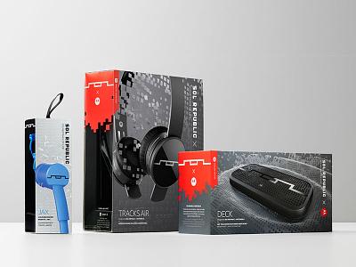 SOL Republic — Packaging 3d cinema 4d cg retouching packaging design pattern sol republic headphones
