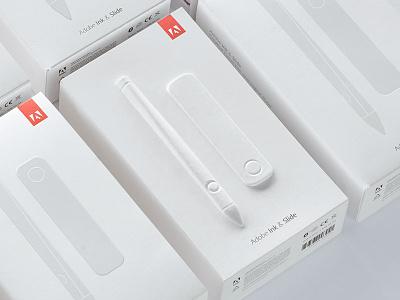 Adobe Ink & Slide Packaging packaging design adobe minimal clean white spectrum print