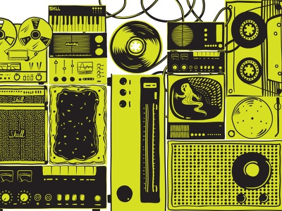 Skullcandy Illustration illustration design skullcandy headphones photoshop packaging