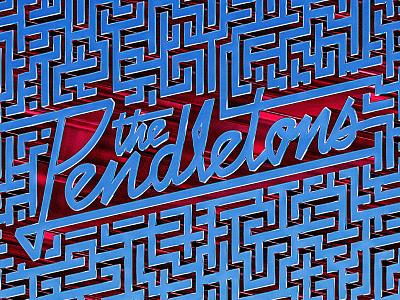 Pendletons — Gotta Get Out EP retro cg typography album art script 3d maze