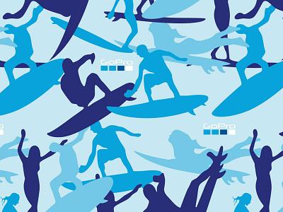 Spec GoPro Surf Camo illustration apparel surfing gopro pattern