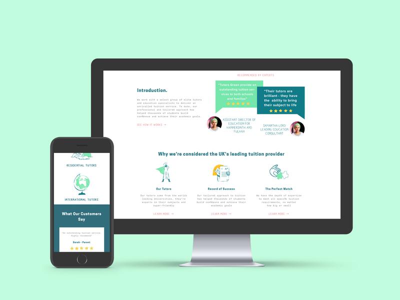 Tutors Green – Web Development by Tom Rees on Dribbble