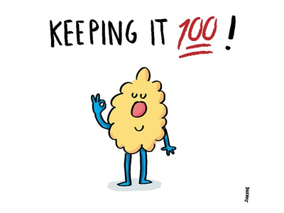 Keeping it 💯 ! illustration cartoon ferbils okay 100