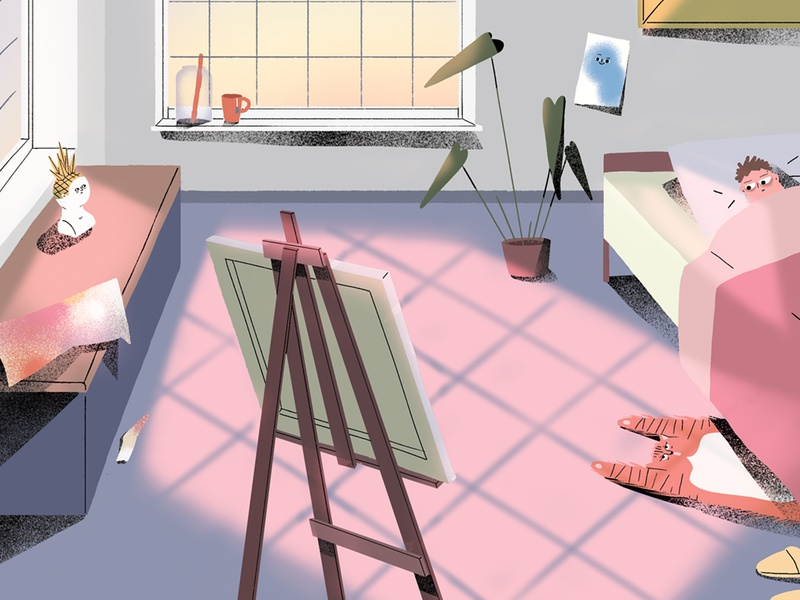 The process of art creating art interior artist illustration