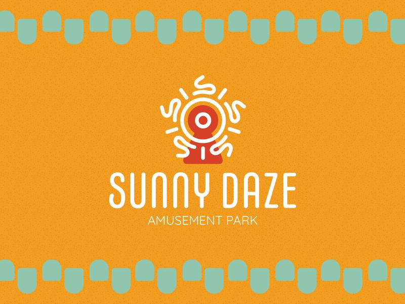 SunnyDaze branding logo design dribbbleweeklywarmup
