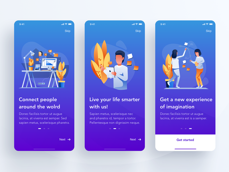 Communities- checklists App | Onboarding UI clean task app gradient illustration todo app ux ui app onboarding