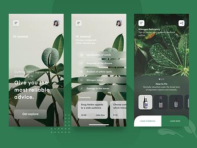 Plant Problem Diagnostic 💚 green icons app detection diagnostic plants plant ux ui