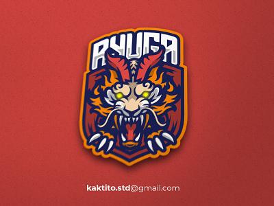 Ryuga E Sport logo branding mascot logo designgraphic debut design vector mascot logo esport