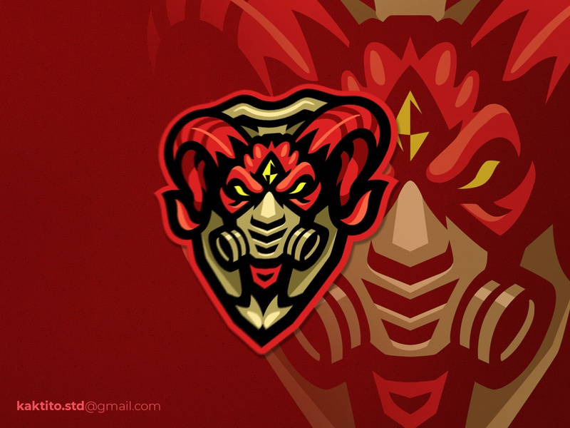 Devil Mask mascot logo debut branding designgraphic design vector mascot logo esport