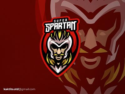 Super Spartan illustration mascot logo designgraphic debut design vector logo mascot esport