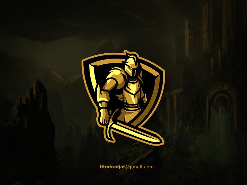 Golden Knight fortnite csgo pubg design games mascot logo esport
