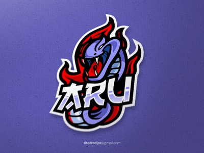 Aru mascot logo sport logo debut designgraphic animal mascot esport design illustration vector