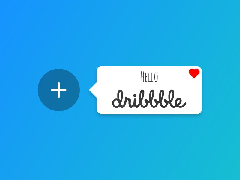 Hello Dribbble <3 thanks shot first dribbble hello