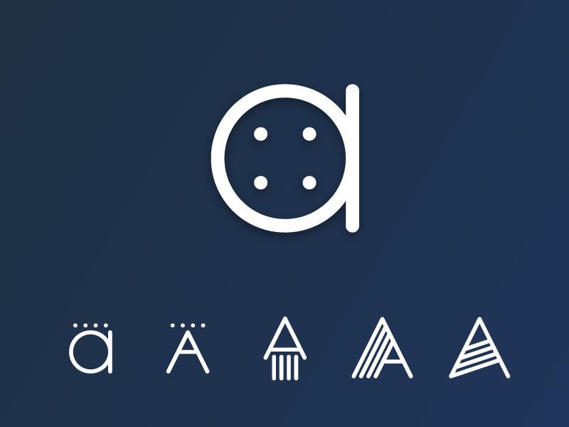 anschluss4 a letter logo