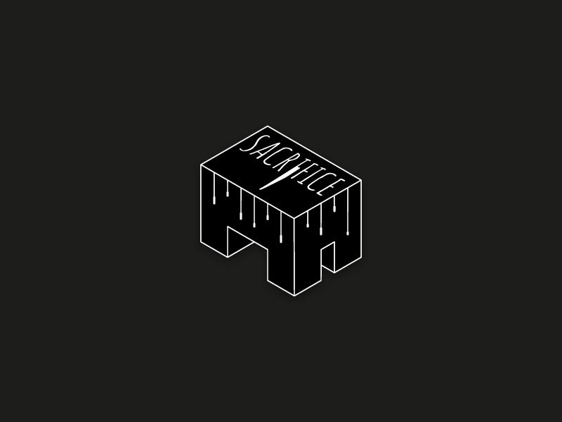 Sacrifice isometric knife logo