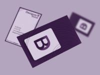 Designer Baldi business card