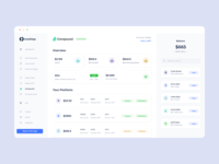 InstaDApp - The Future of Decentralized Banking transaction trading web ethereum field selector input pastel colors buttons clean ui data visualization data cryptocurrency crypto wallet minimalist dapp crypto ux blockchain