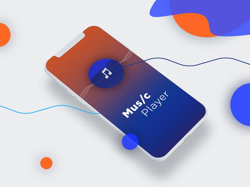 Music Player landing screen, Iphone X