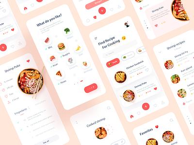Recipe app clean ui design uiux minimalist cooking food cook minimal ux ui mobile recipe food app recipes