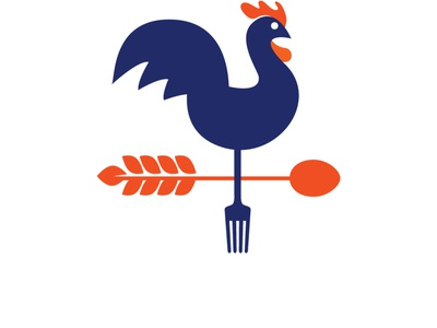 Weather Vane Rooster Logo For Sale beautiful logo for sale branding logo graphic design ui cafe roast chicken restaurant poultry fresh farm products farming great wheat fork and spoon set compass points modern vintage logo weather vane rooster logo