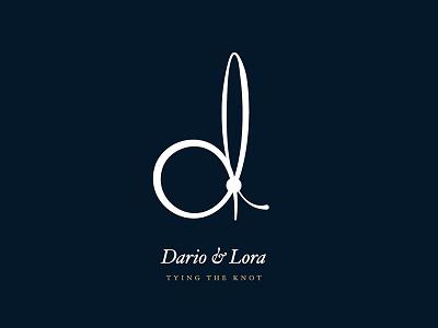 Dario & Lora – Tying the Knot logo knot wedding
