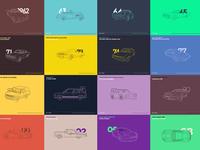 Interactive Bond Cars Evolution