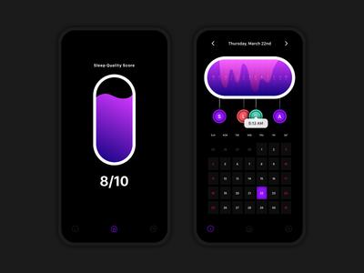 Analytics Chart — Daily UI Challenge #018 purple black sleep chart analytics data 018 18 design daily dailyui app