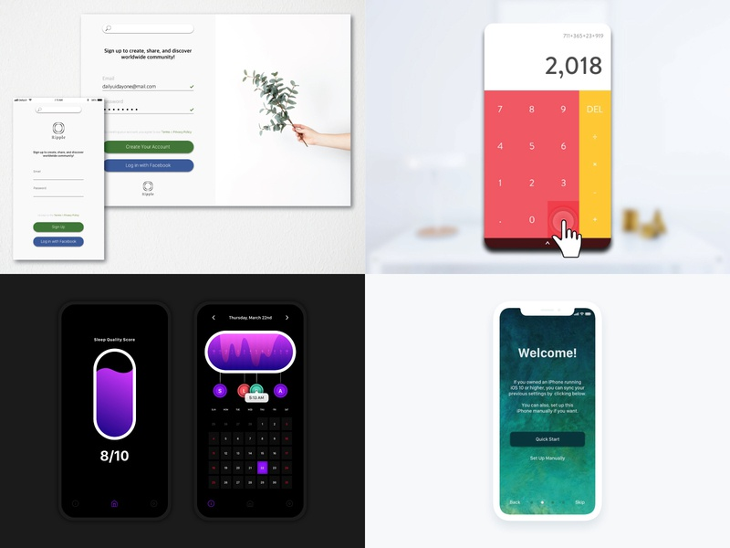 2018 ios 2018 instagram user interface minimal ux interface daily ui app design dailyui
