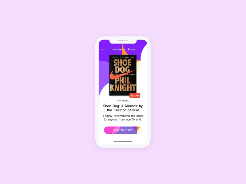 E-Commerce — Daily UI Challenge #012-2 add to cart shop ecommerce follow instagram abstract recommendation reading nike book user interface minimal idea ux interface daily ui app design dailyui