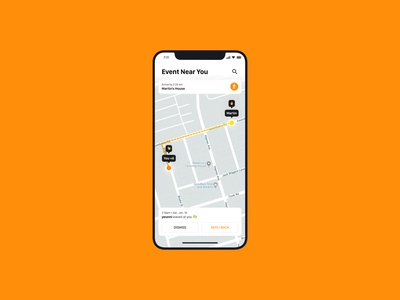 Location Tracker — Daily UI Challenge #020-2 uber friends orange location follow instagram tracker map 020 minimal fun material idea ux interface daily ui app design dailyui