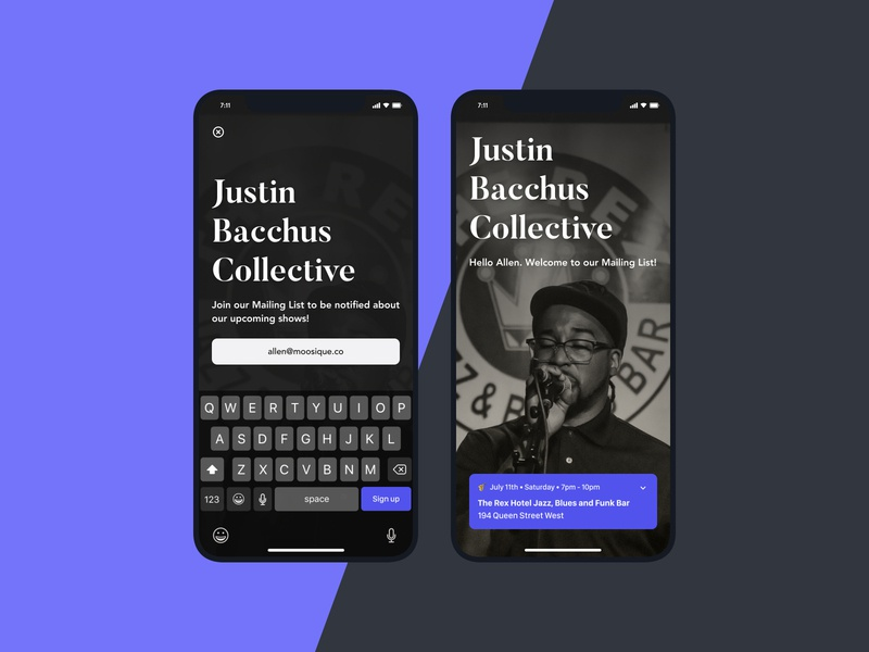Subscribe — Daily UI Challenge #026-2 editorial typography purple subscription subscribe newsletter soul instagram music follow user interface minimal idea ux interface daily ui app design dailyui