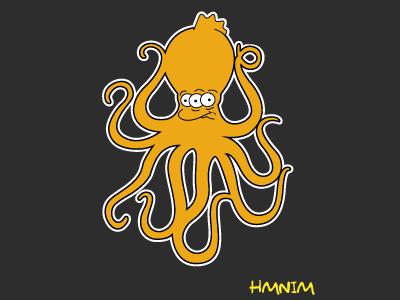 Mark Hoppus Octopus/Three eye Fis  the simpsons design mark hoppus blink-182