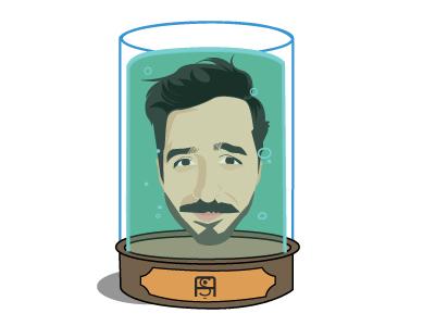 Living for ever illustrator jar head futurama