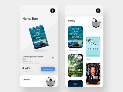 Book Reader App reader app books uiux desing design typography icon app ux ui illustration visual design