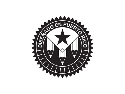 Diseñado en Puerto Rico - Vintage Logo