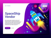 SpaceShip Landing Page Design