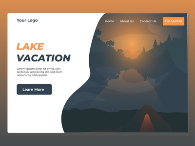 Landing page for Travel Destination