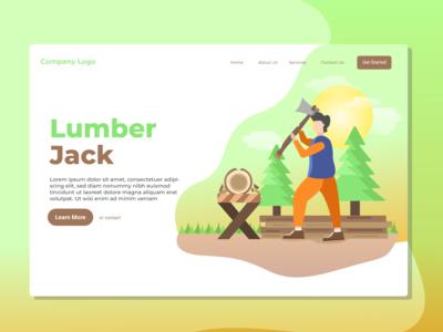 Lumber Jack Landing Page Illustration