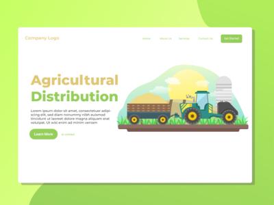 Agricultural Distribution Landing Page Illustration