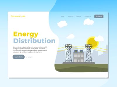 Energy Distribution Landing Page Illustration
