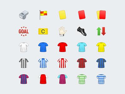 Football Emoji icons emoji soccer football