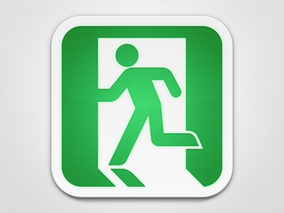 Exit icon @2x ios everyday square white light green