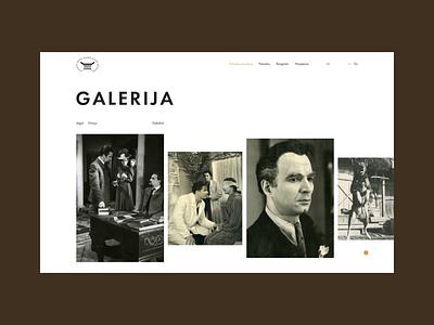 Theatre, Music and Cinema Museum, gallery website web design figma landing theatre portfolio site music museum cinema typography ui animation
