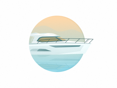 Boat illustration photoshop colour drawing icon design ui sign branding illustration flat