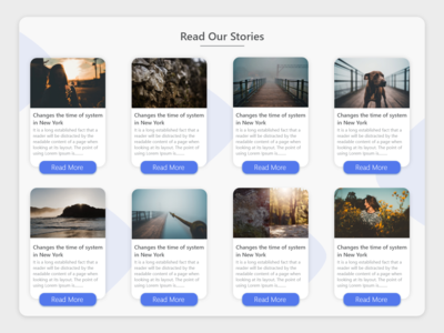 Blog Cards Website UI