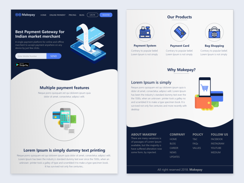 Web Design UI by Akash Solanki on Dribbble