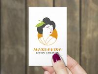 Mandarina Tatto Logo + Business Card