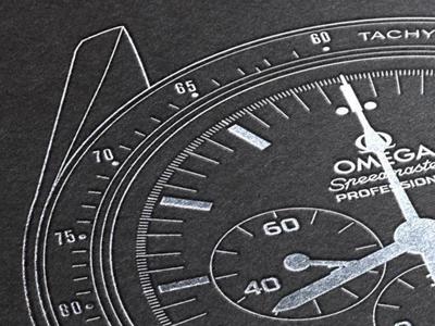 Omega Speedmaster Professional - Foil Emobssed Poster