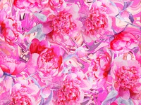 Abstract Watercolor Pink Peonies Pattern